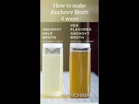 How to make Anchovy Broth (4 ways)
