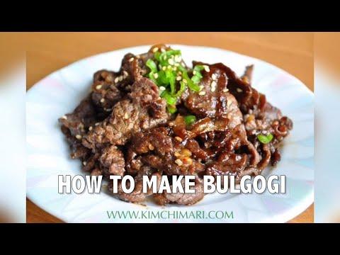How to make Bulgogi (Korean BBQ Beef)