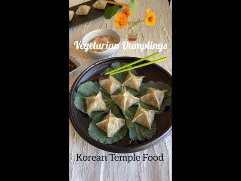 Summer Vegetarian Dumplings (Korean Pyeonsu)