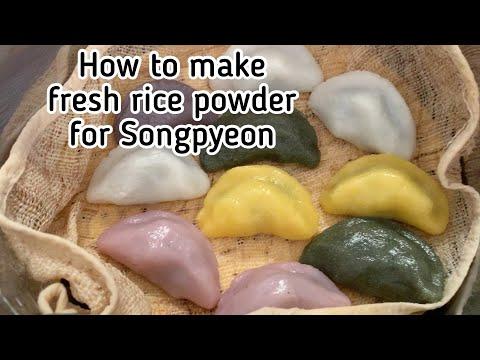 How to make Fresh Rice Flour for Songpyeon (Mepssalgaru for Tteok)