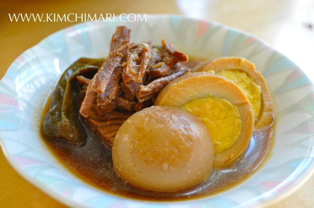 Jangjorim - Korean beef side dish braised in soy sauce