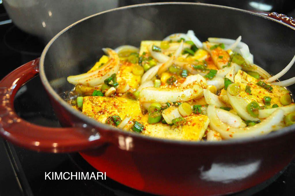 tofu braised soy sauce (dubu jorim)