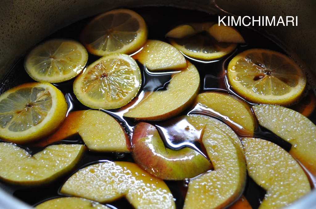 apple lemon seasoned soy sauce