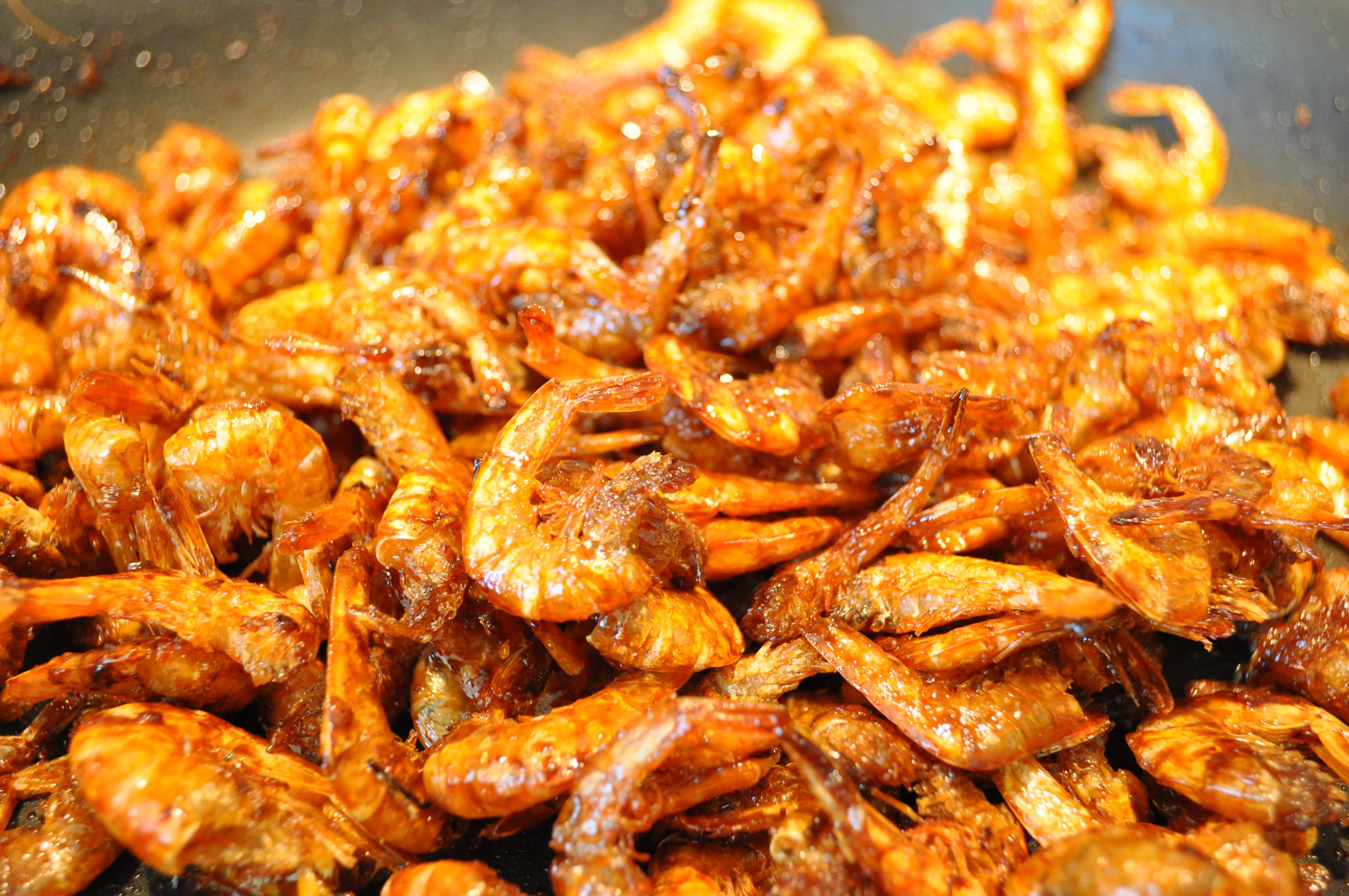 Dried shrimp cooked