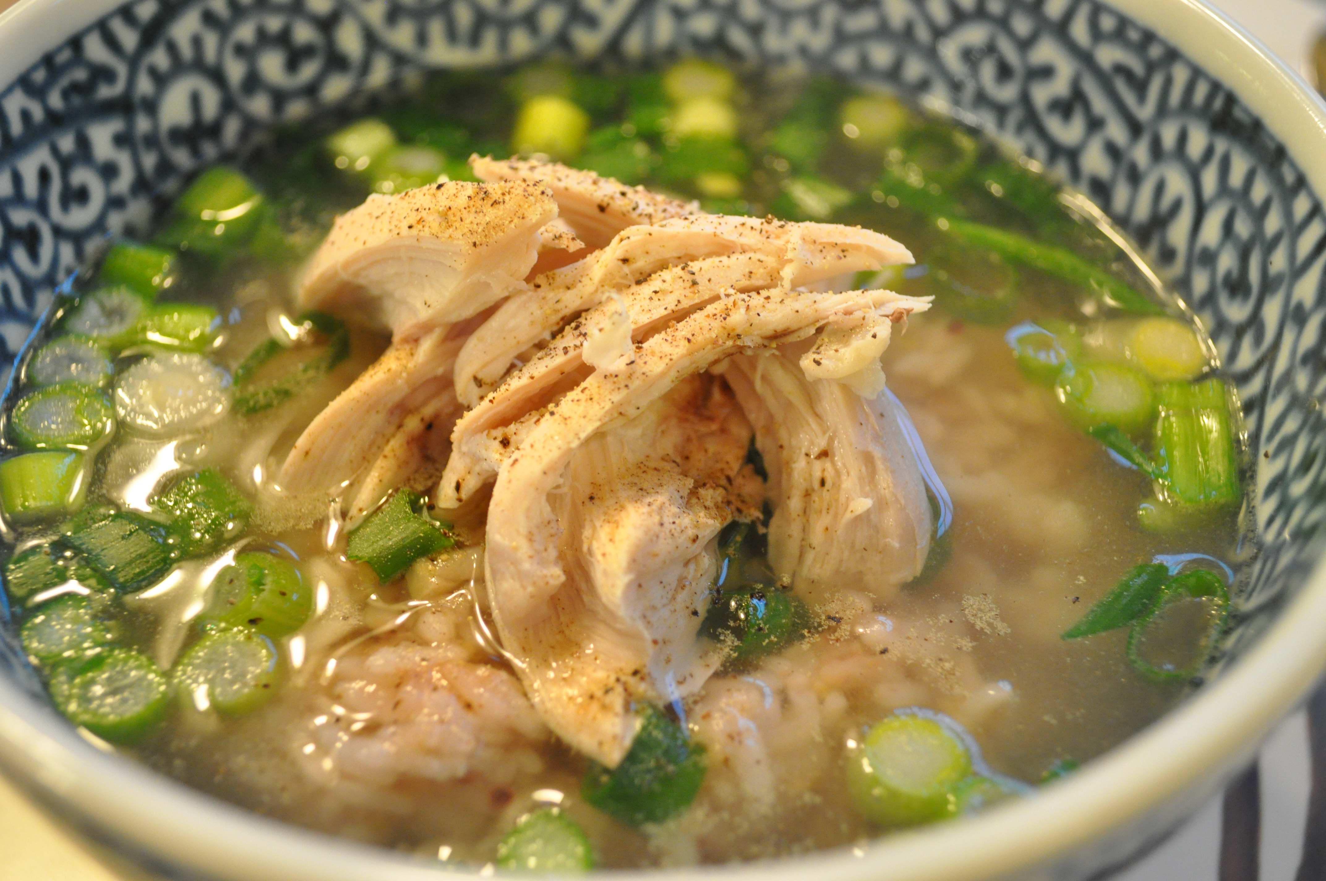 Young gye baeksuk (Korean chicken soup and rice)