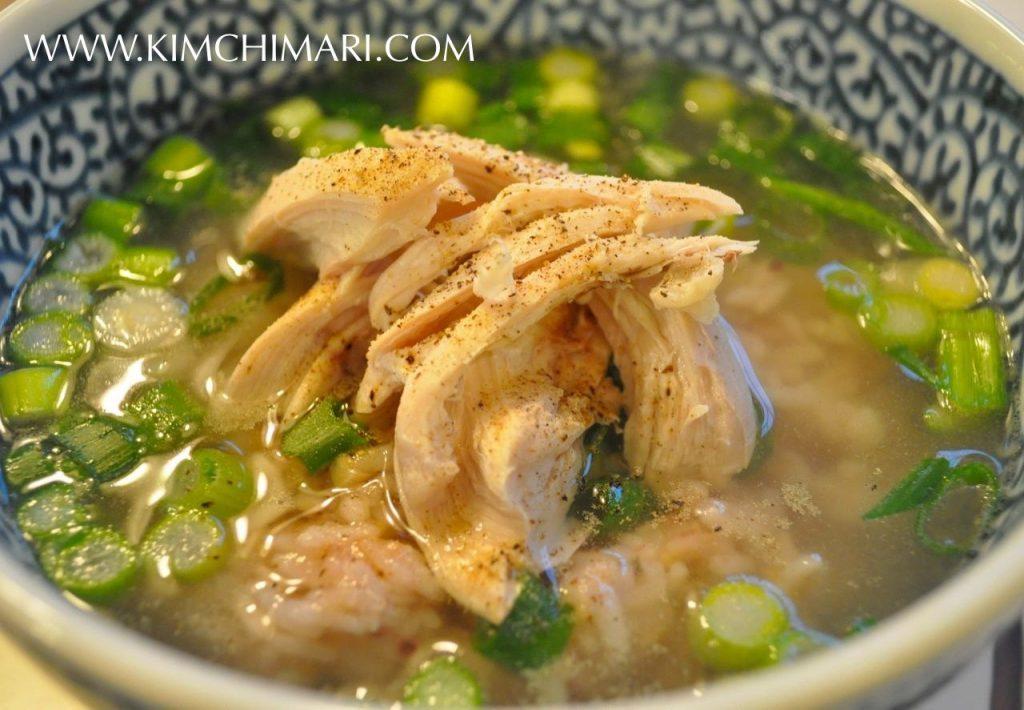 Yeong gye baeksuk (Korean chicken soup and rice)