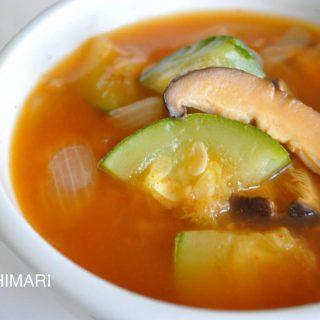 Meatless Spicy Zucchini Mushroom Stew(고추장 호박찌게 Gochujang Hobahk Jjigae)