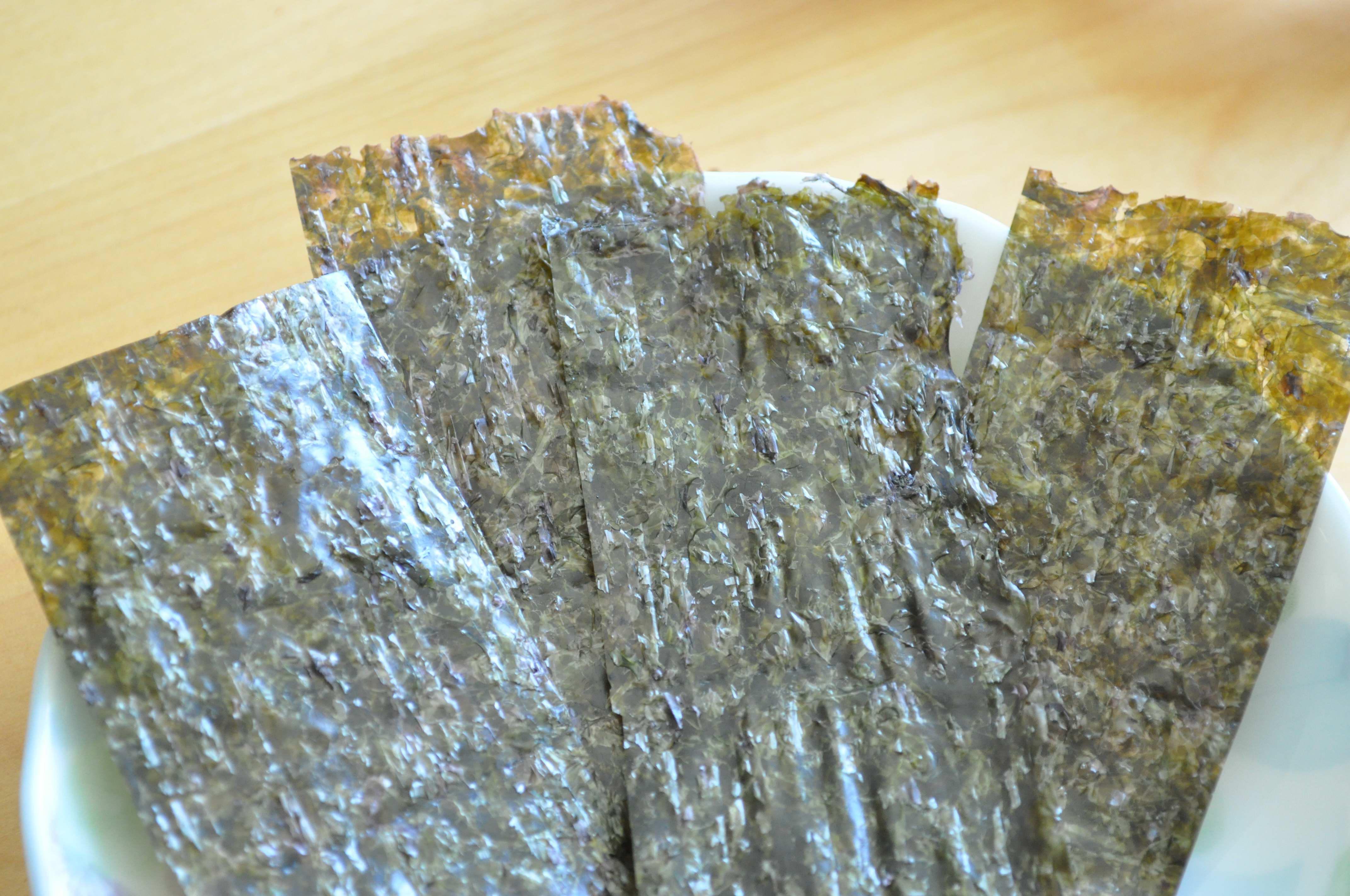 Kim(Seaweed) cut in strips