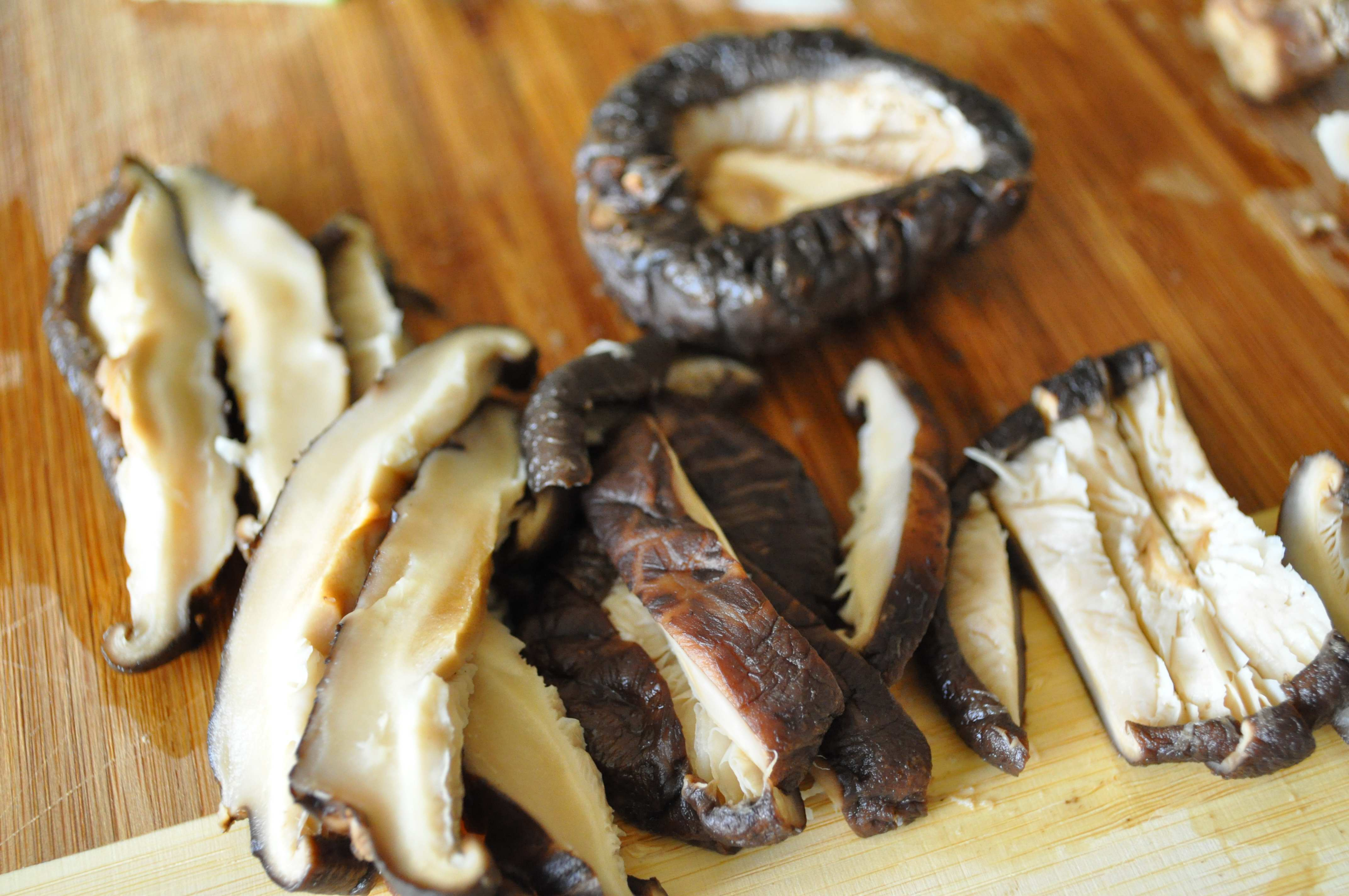shitake mushroom slices