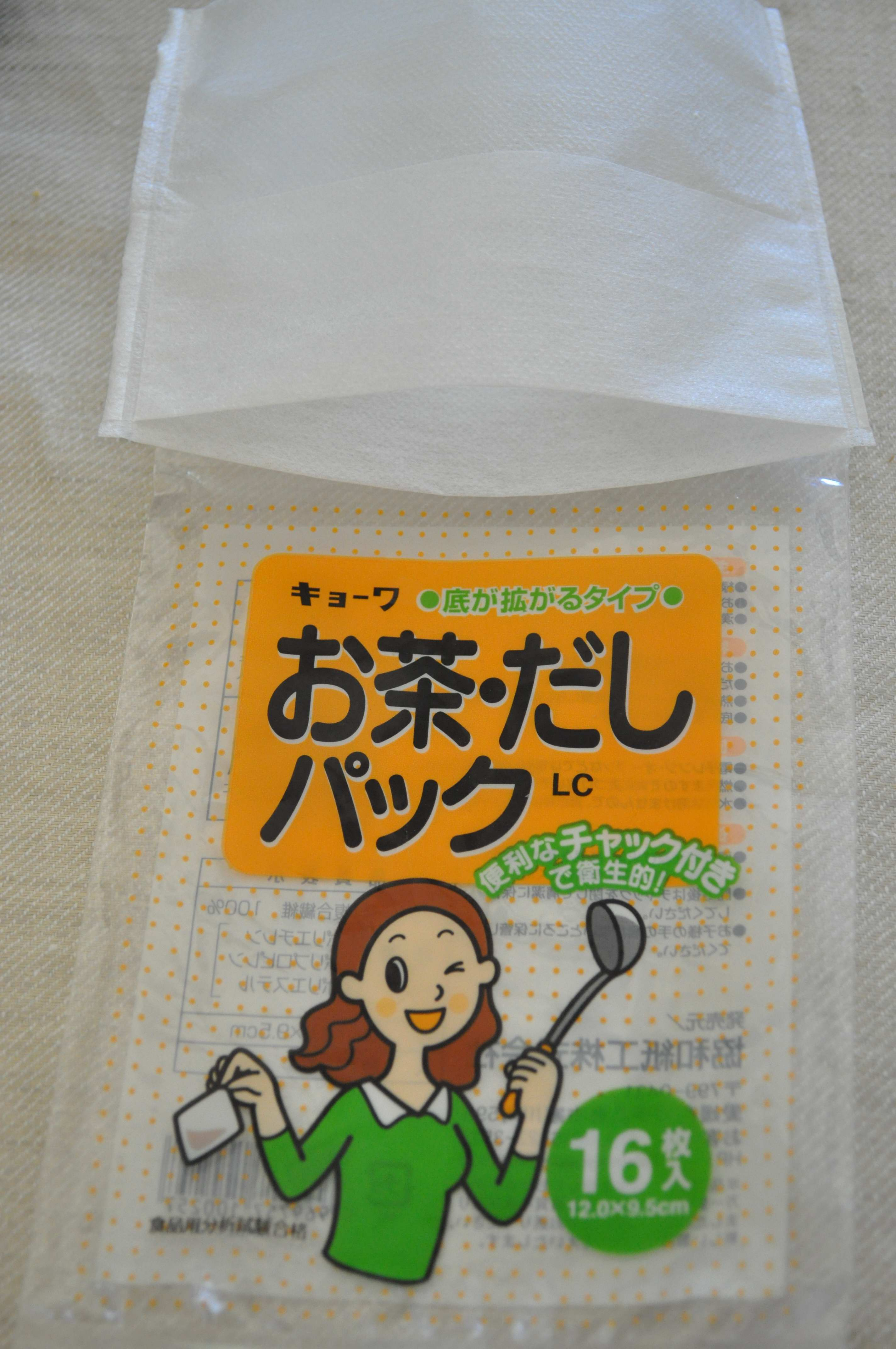 Paper bag for making anchovy stock