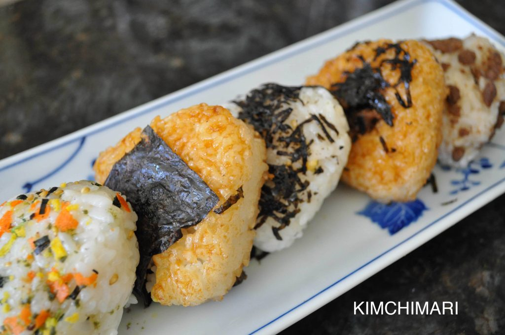 korean japanese rice balls onigiri jumeok bap