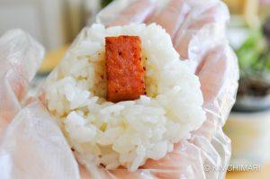 rice balls jumeok bap with spam