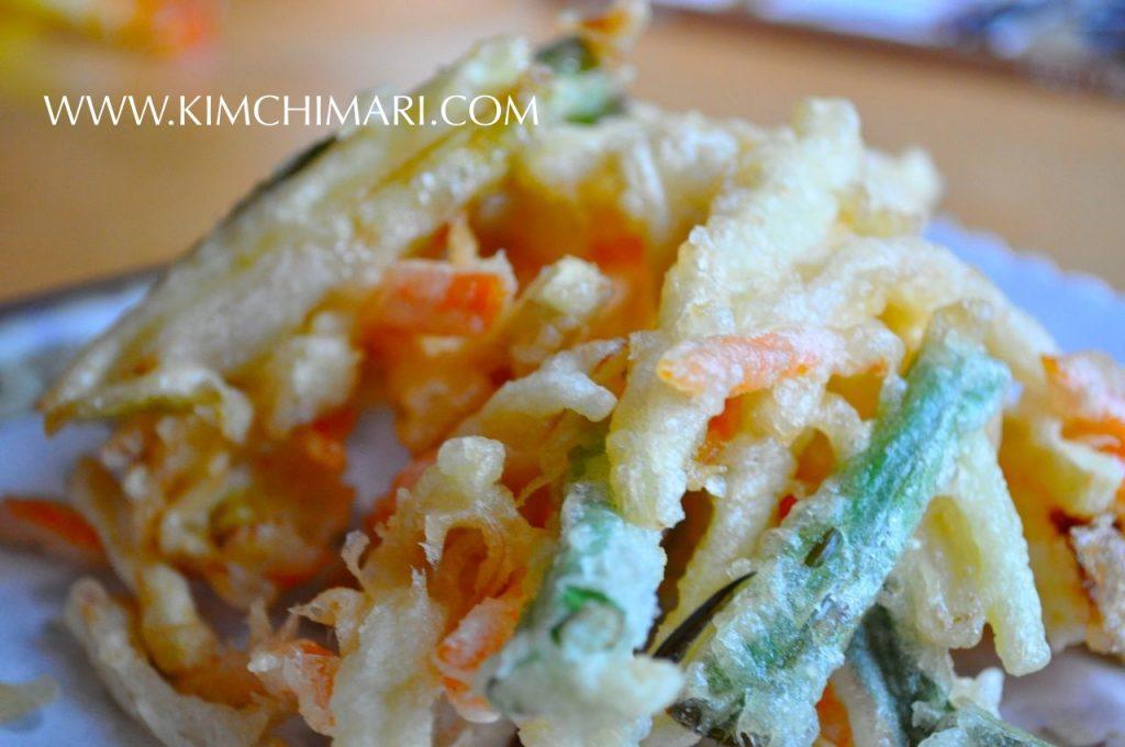 Korean vegetable tempura - Yache Twigim