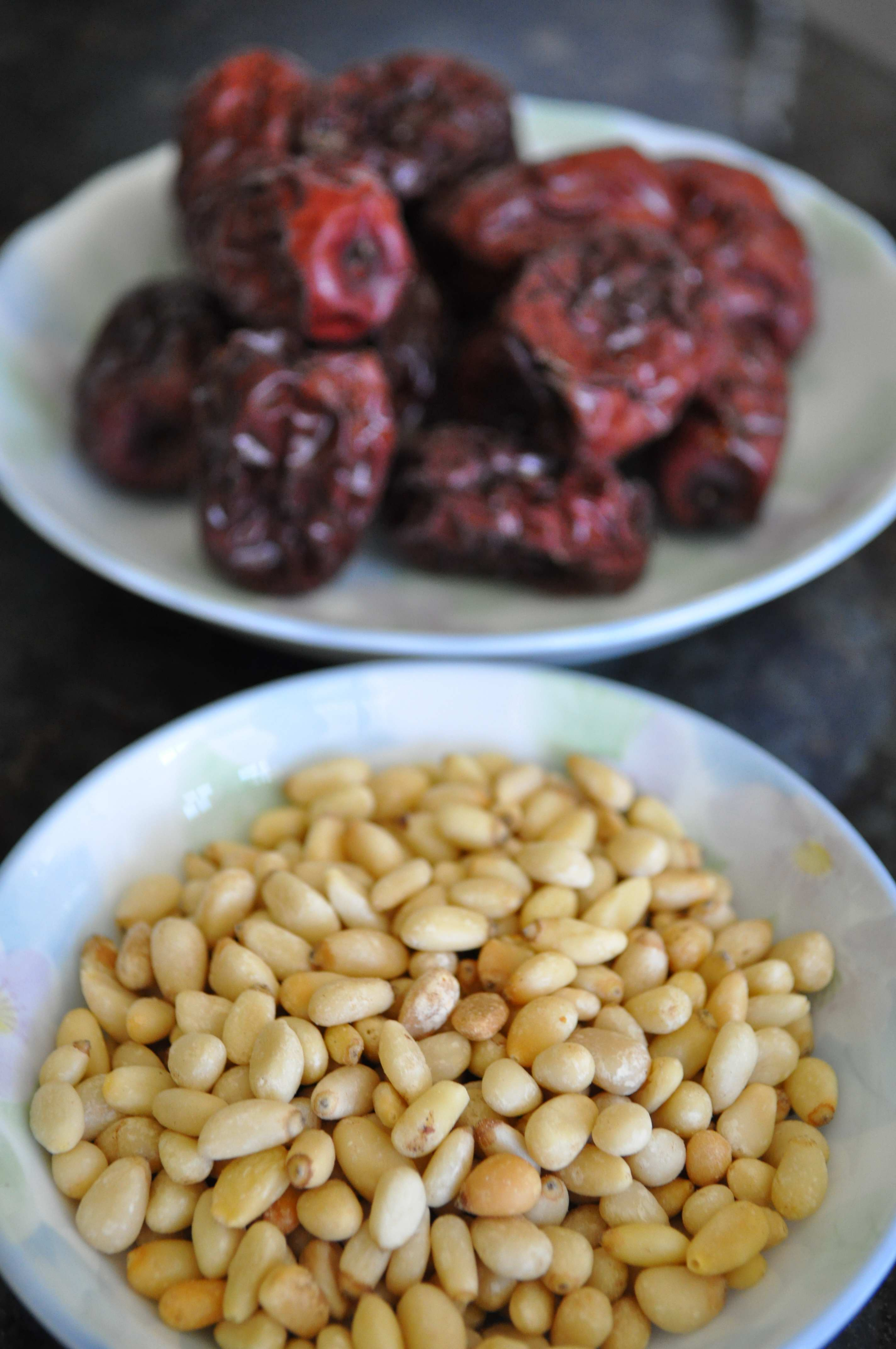 pine nuts and jujubes