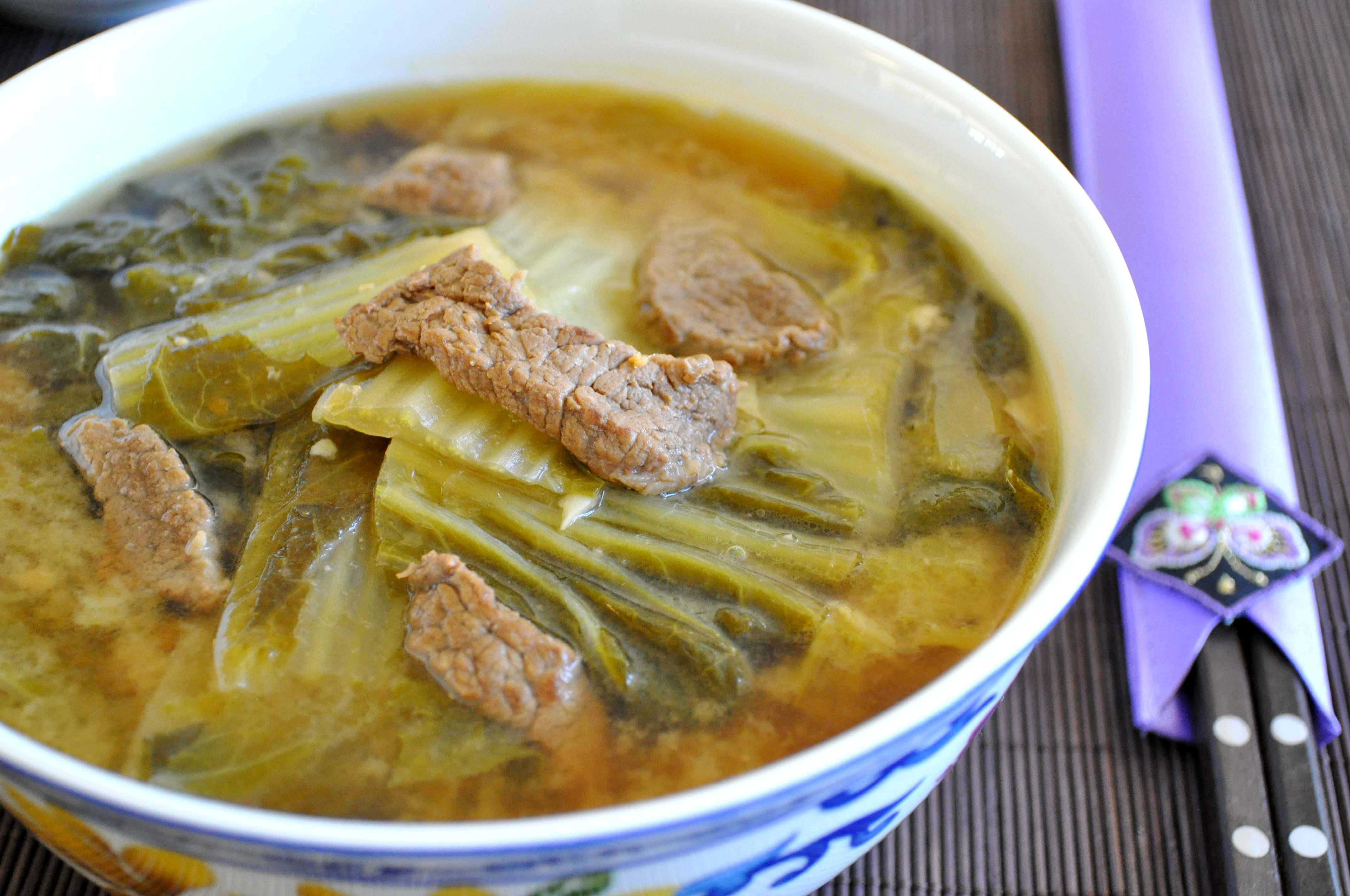 Baechu Deonjang Guk (Korean small cabbage soybean paste soup)