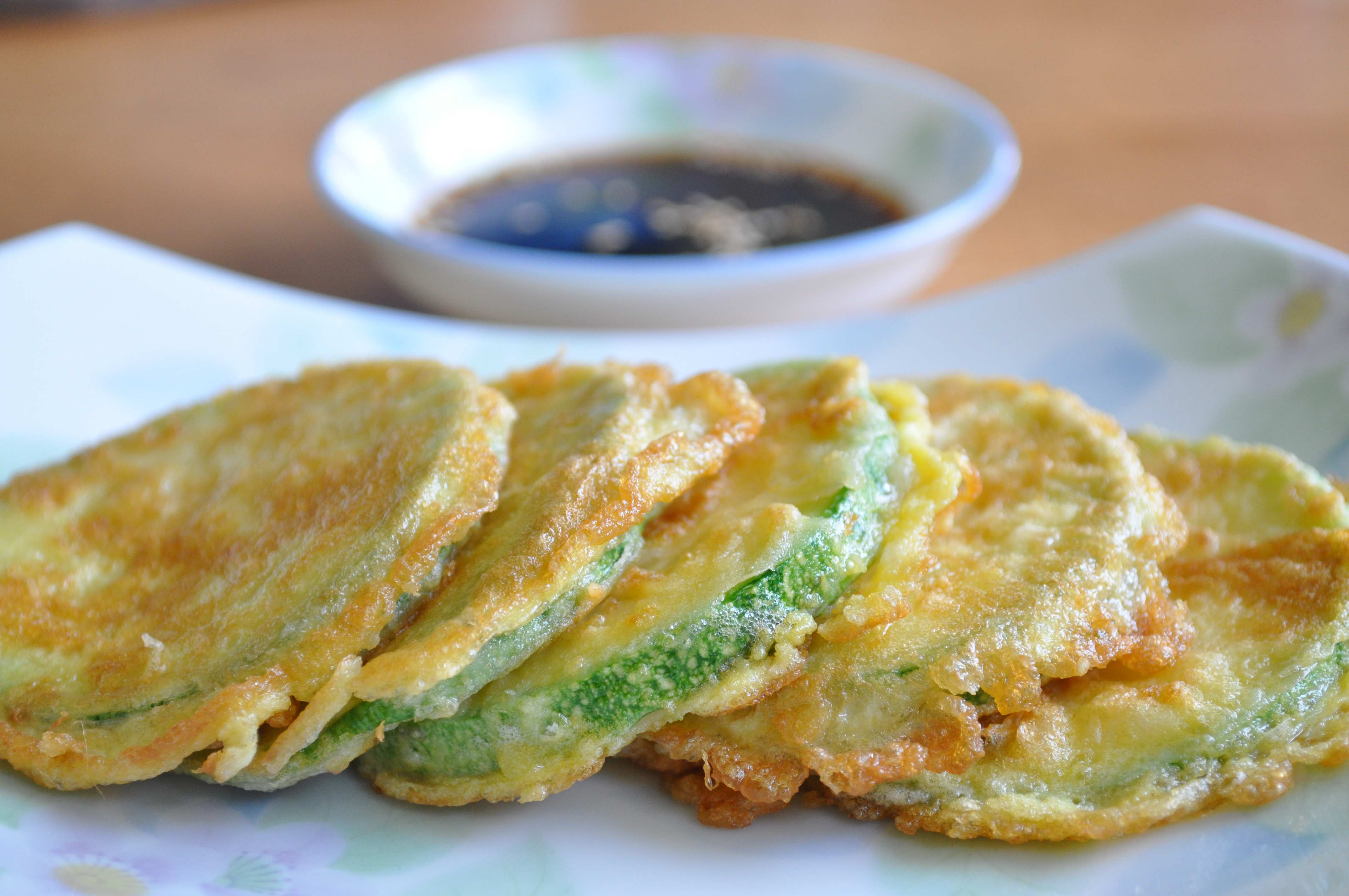 Pan-fried Zucchini Fritters (호박전 Hobak Jeon)