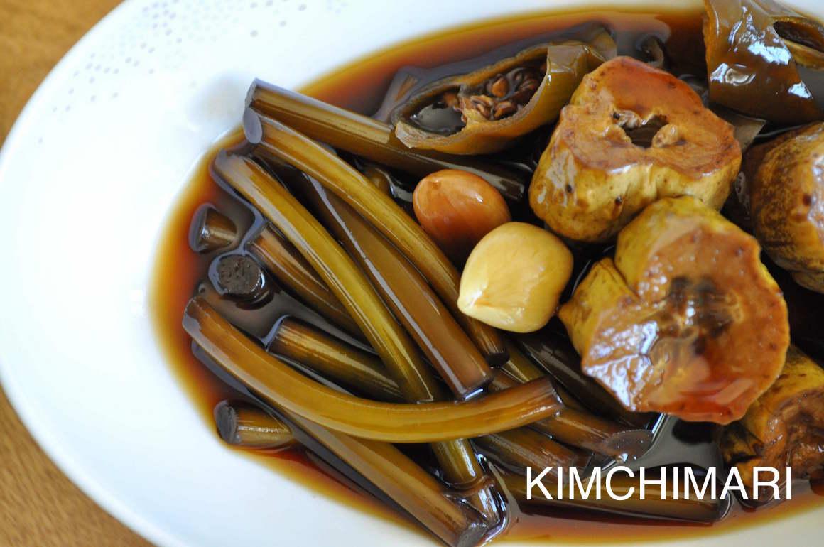 Korean Pickles - Garlic, Cucumber Jangahjji