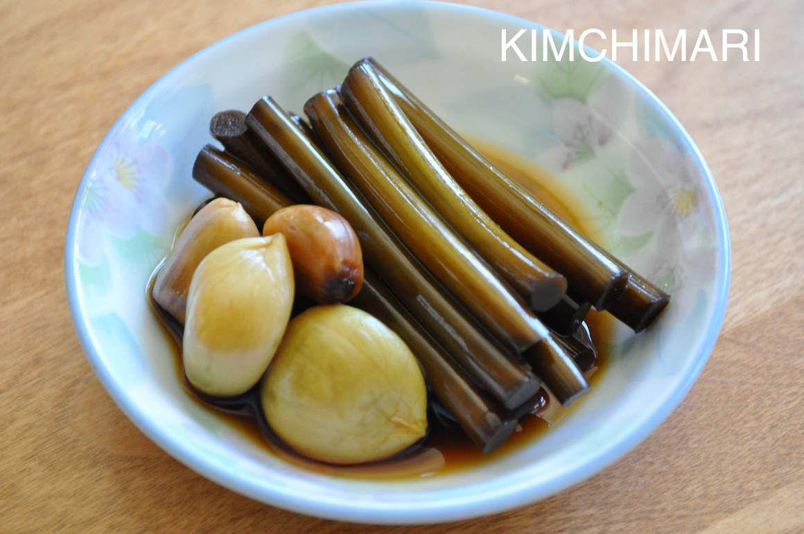 Korean Pickles - Garlic and Garlic capes