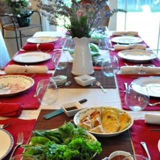 A Korean dinner party