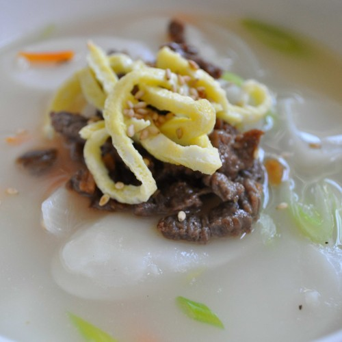 Korean Rice Cake Soup (떡국 Dduk Guk)