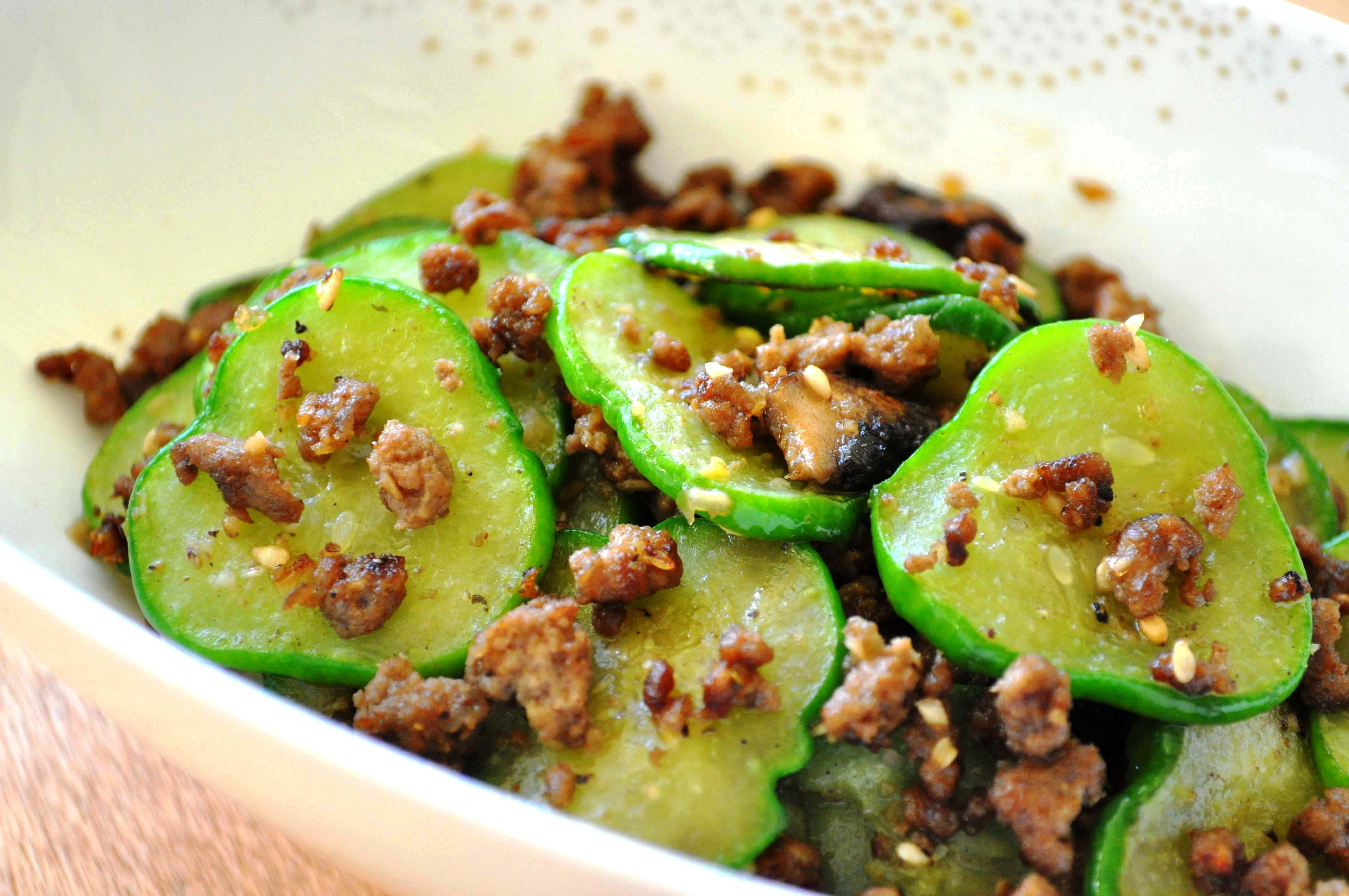 Korean sauteed cucumber namul