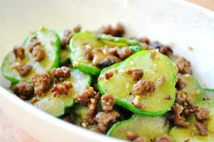 Korean sauteed cucumber namul