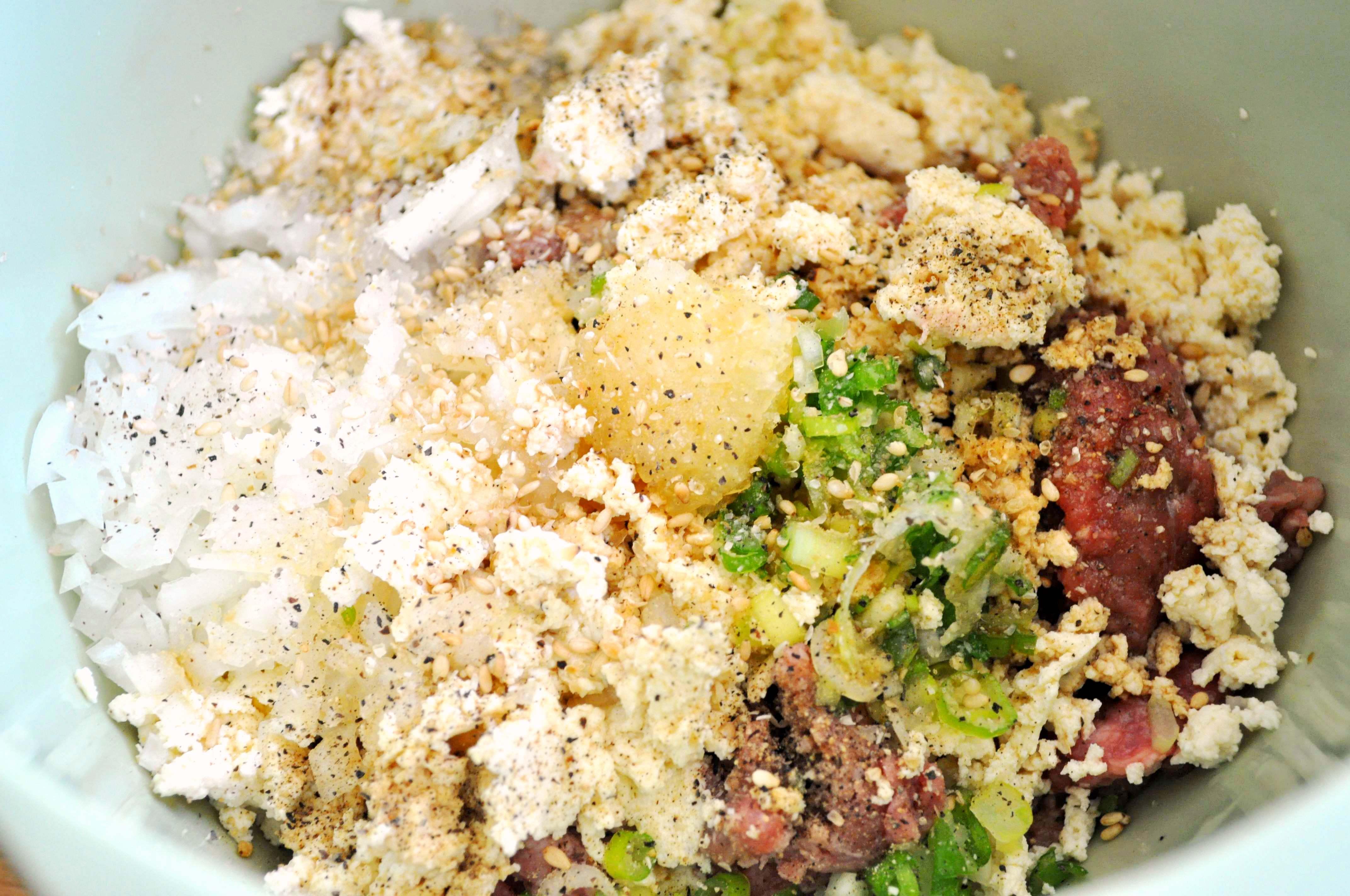 Ground meat and seasonings