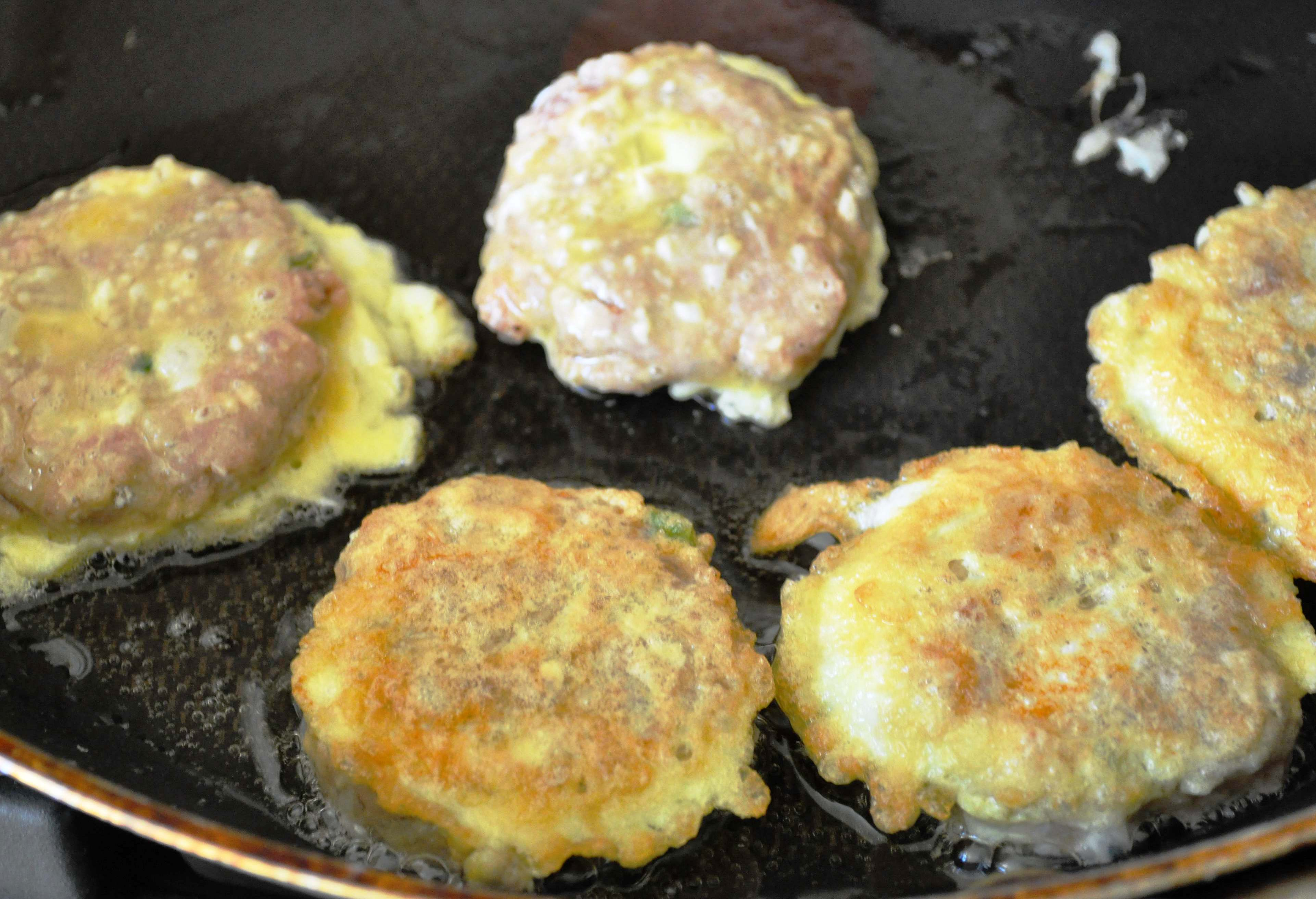 Wanja jeon in frying pan