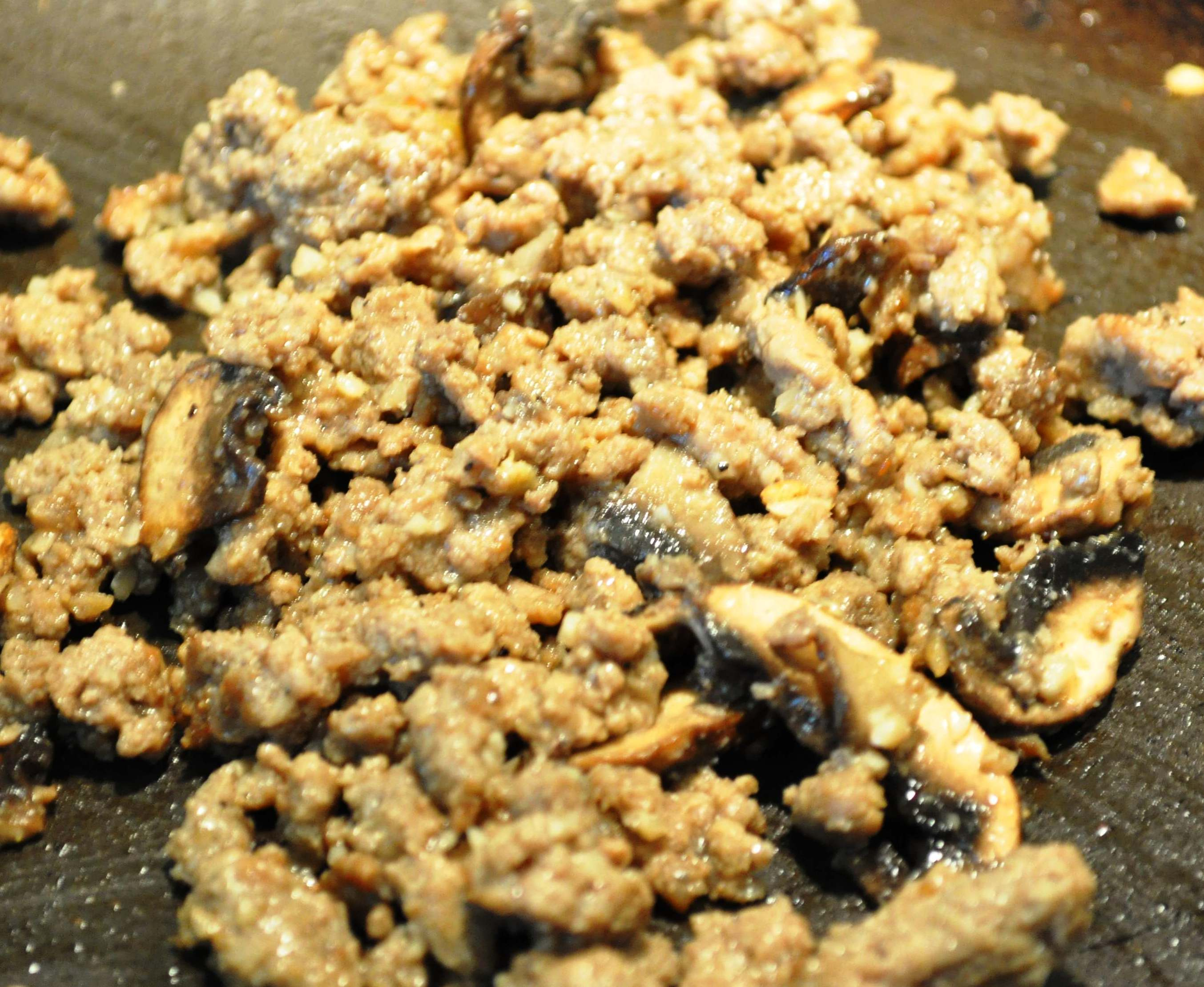 Korean seasoned ground beef in pan
