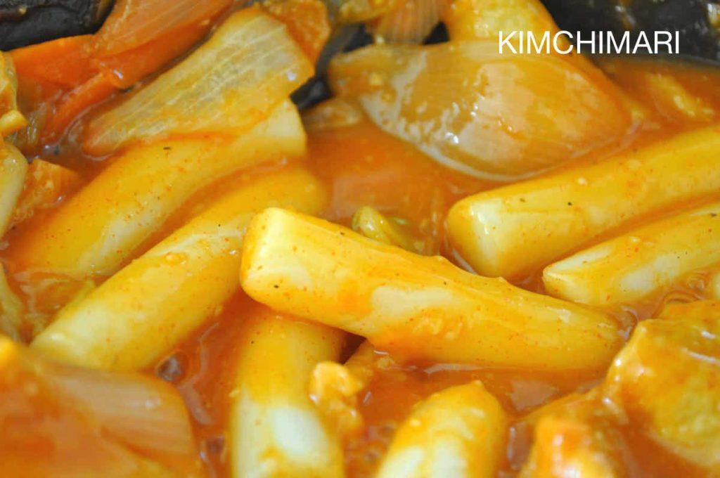 Spicy Rice Cake Tteokbokki closeup