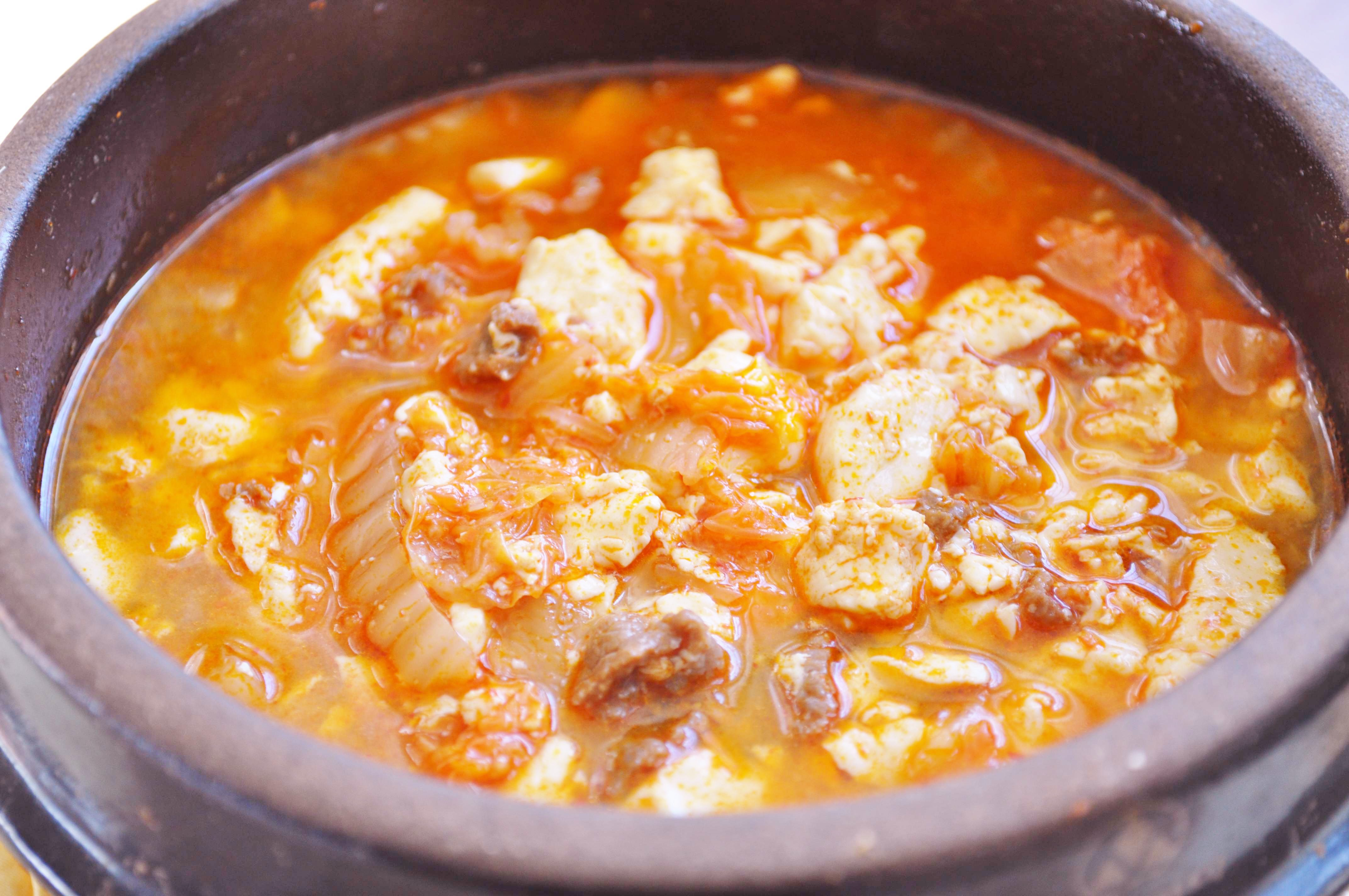 Kimchi Soondubu Jjigae (Spicy Soft Tofu Stew with Kimchi)