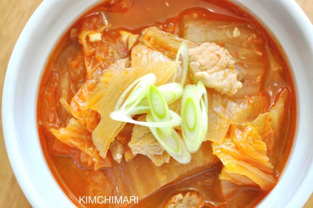 Kimchi Stew (Jjigae/Chigae) with pork belly