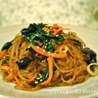 Japchae/Chapchae (잡채 Korean Glass Noodles)