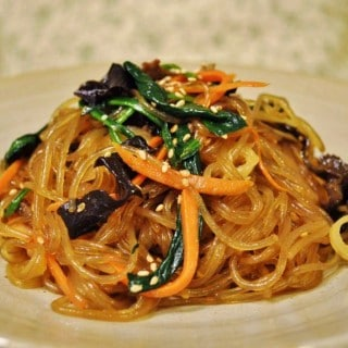 Chop Chae/Jap Chae (Korean Glass Noodles)