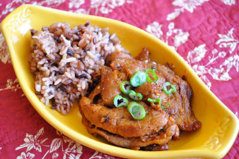 pork bulgogi and rice