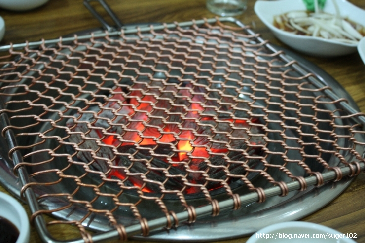 korean grill over charcoal