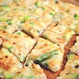 Crispy Zucchini Pancakes (호박부침개 Hobak buchimgae)