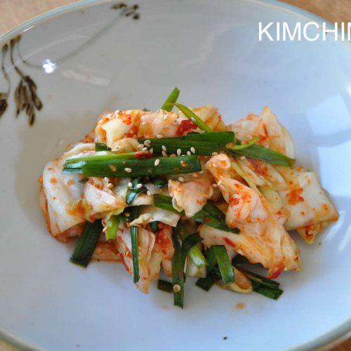 Green Cabbage Kimchi (Yangbaechu Kimchi)