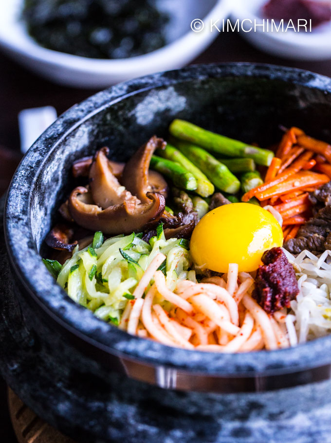 Dolsot Bibimbap Korean Stone Pot Rice Bowl Kimchimari