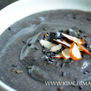 Black Sesame Porridge (Heukimja Juk) with 5 cups water