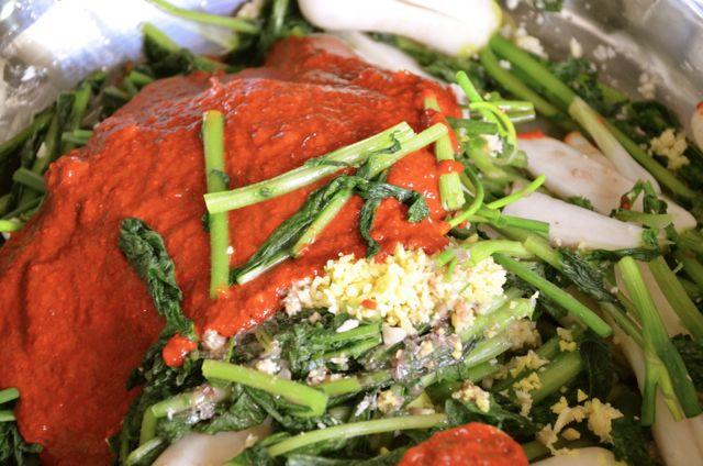chong gak kimchi ingredients