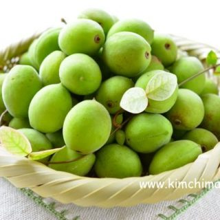 Japanese Green Apricot Plums or Maesil