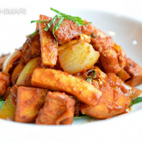 Dak Galbi - Korean Spicy Chuncheon Chicken Stir Fry
