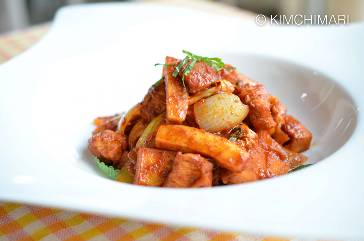 Dak Galbi (Spicy Chuncheon Chicken Stir Fry)