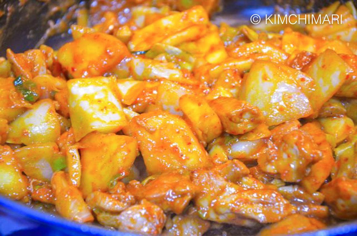 Dakgalbi Chuncheon Chicken Cooked