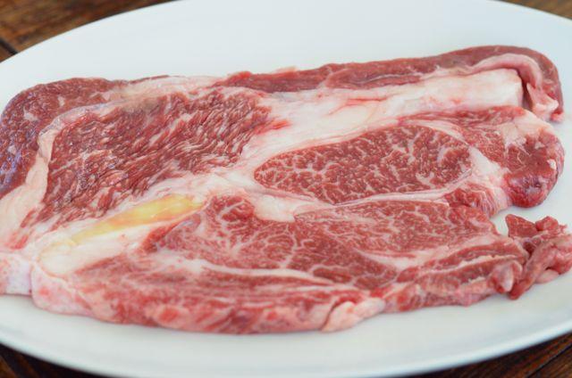 Korean deungshim (등심) or rib eye steak cut