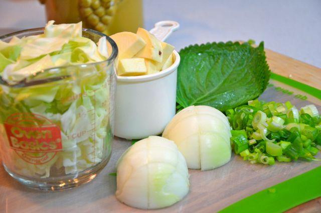 Vegetables for Chuncheon Dak Kalbi