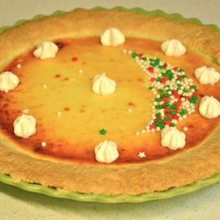 Christmas cheesecake tart
