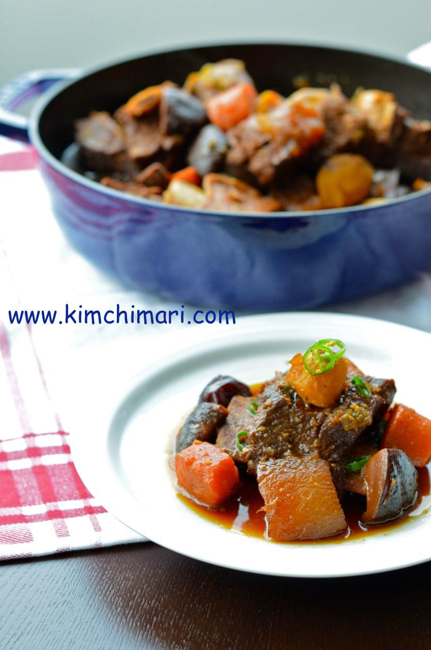 Galbi jjim (Korean Braised Short Ribs)