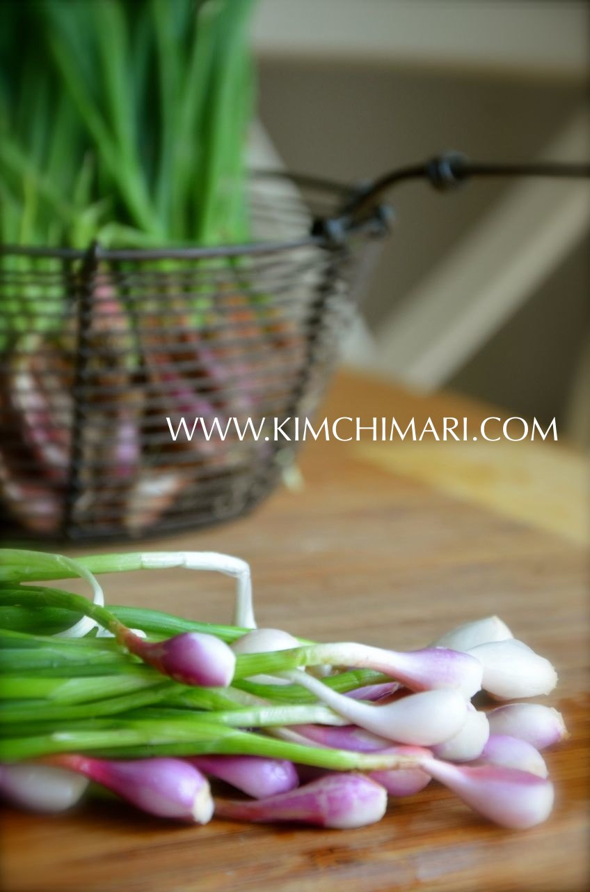 Korean bunching onions, chokpa, 쪽파, Allium Wakegi, purplette onions